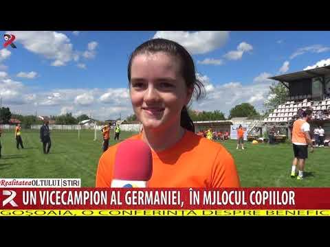 Un vicecampion al Germaniei, în mjlocul copiilor din Olt
