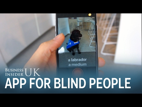 An app for blind people identifies and reads out objects in their surroundings