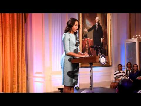 First Lady Michelle Obama White House the  must go on by Anna Wilding