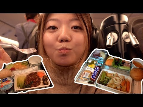 China Airlines PREMIUM ECONOMY FOOD! New York To Taipei (16 Hour Flight)