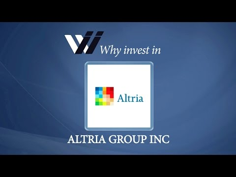 Altria Group Inc - Why Invest in