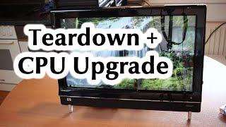 HP TouchSmart 600 1140DE Teardown CPU Upgrade RAM HDD