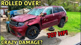 Rebuilding A Wrecked 2018 Jeep Trackhawk!!!