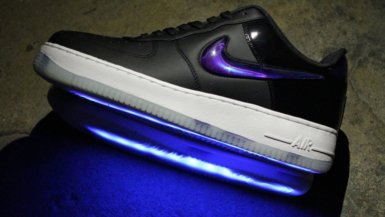 best sneakers 85cf8 8ef4d PlayStation Nike Air Force 1 2018 Customized with LEDs [LIGHT UP SHOES]