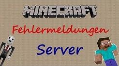 Minecraft Server Fehler beheben (German/Full-HD)