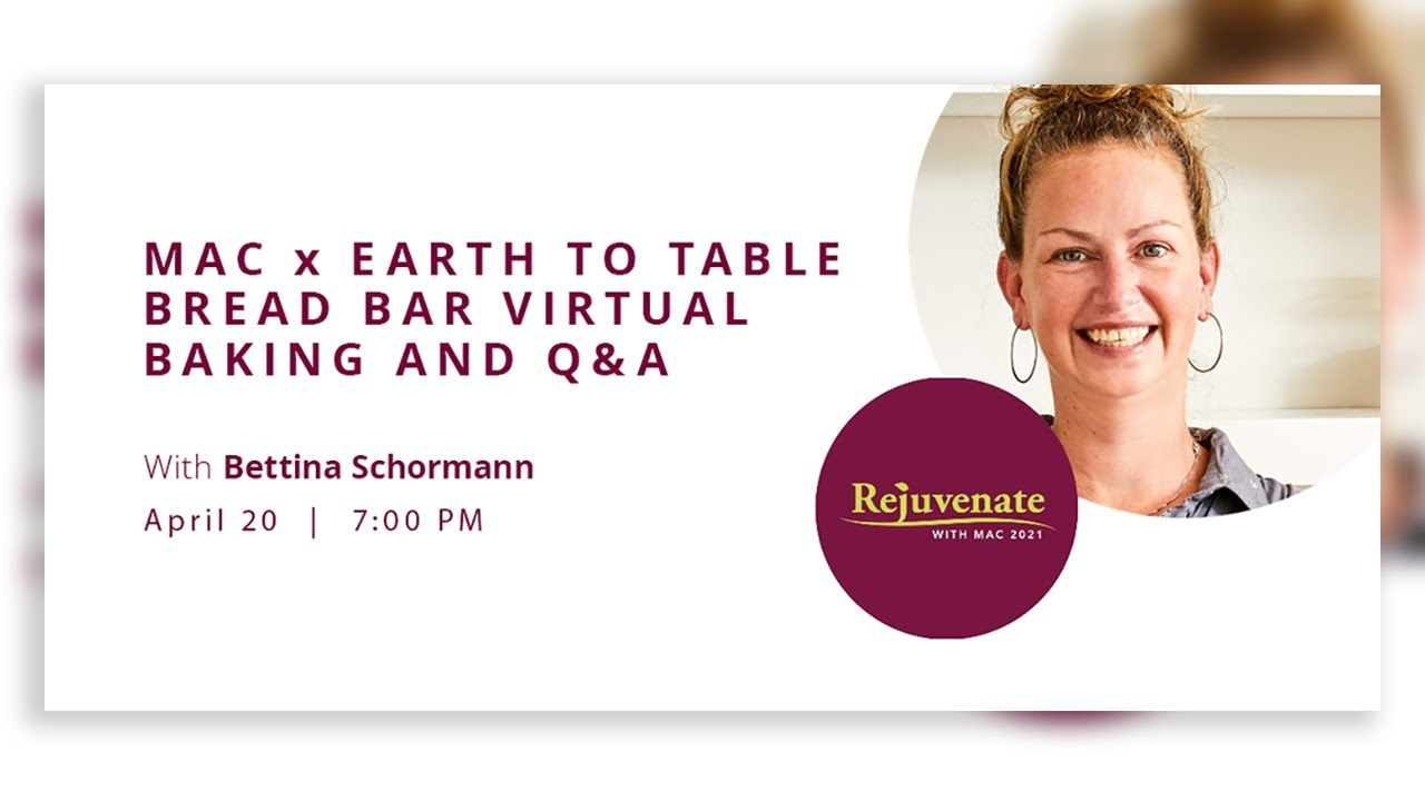 Image for McMaster Alumni x Earth to Table: Bread Bar with Bettina Schormann webinar