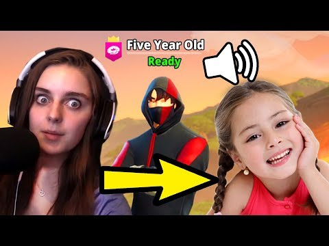 Pretending To Be A 5 Year Old Kid In Fortnite