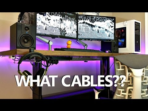 Quick & Easy Cable Management Tutorial | How to Cable Manage a Clean and Minimalist Desk Setup