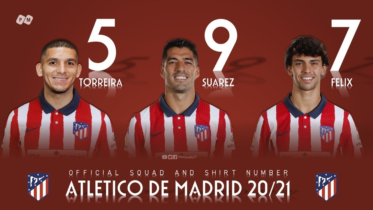 Atletico De Madrid Squad 20 21 Official Squad Pm Youtube