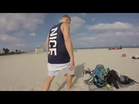 Kiteboarding in Miami Key Biscayne Florida shooting with drone and GoPro gimbal edited on iPhone 6s