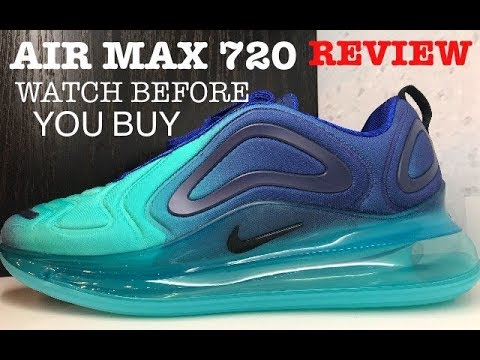Nike Air Max 720 Hyper Jade Deep Royal Shoe Detailed Look Review For Aliens #airmax720 #sneakernews