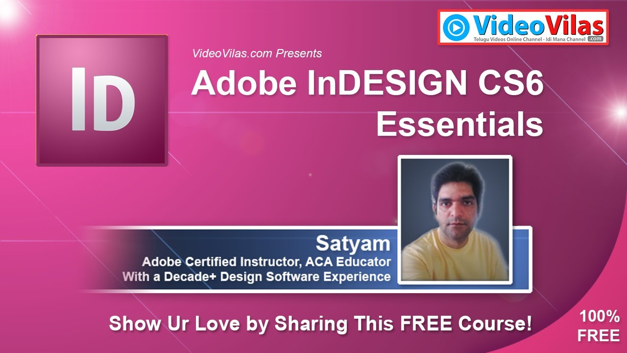 Adobe InDesign Tutorials for Beginners (Telugu) - 01 - InDesign ...