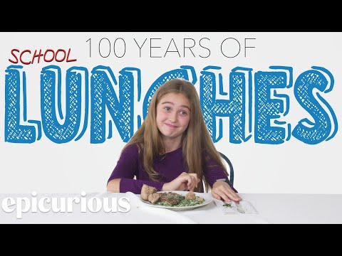 Kids Try 100 Years of School Lunches