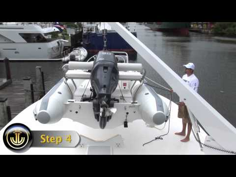 How to use your UMT davit to lift dinghy.mov