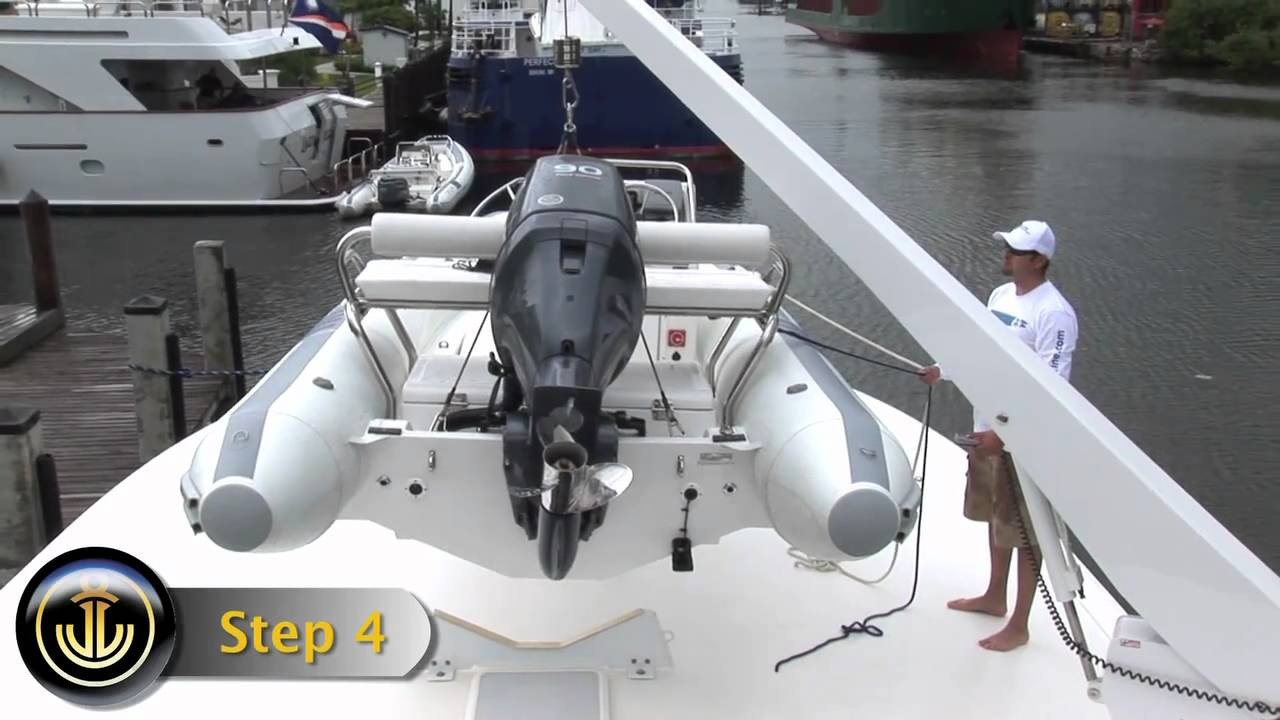 How To Use Your Umt Davit To Lift Dinghy Mov Youtube