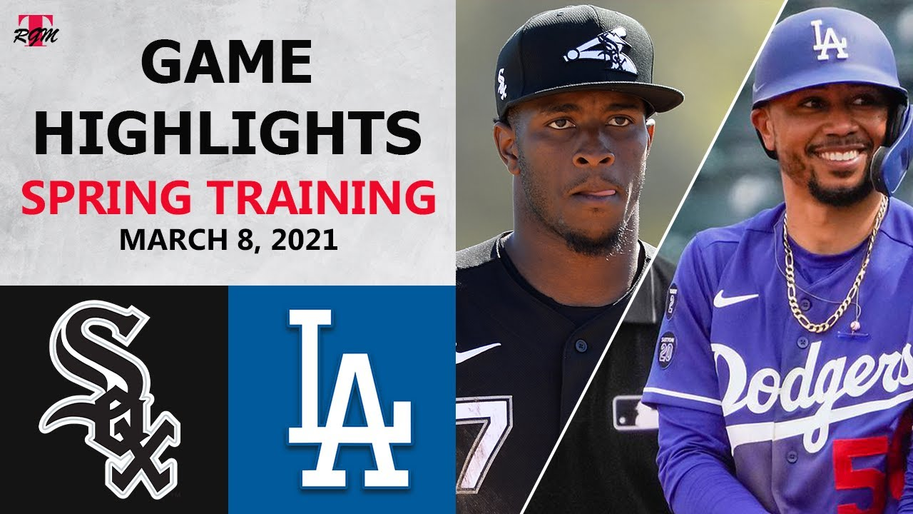 Chicago White Sox vs. Los Angeles Dodgers Highlights   March 8, 2021 (Spring Training)