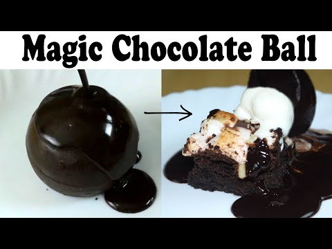 Magic Melting Chocolate Ball | Rocky Road Brownie Recipe| Chocolate Dessert| yummylicious
