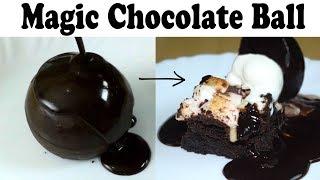 Magic Melting Chocolate Ball | Rocky Road Brownie Recipe| Chocolate Dessert| yummylicious