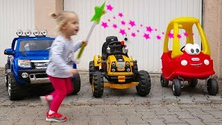 Magic Little Girl Transforms cars for kids w/Thomas Toys Power Wheel Electric Cars