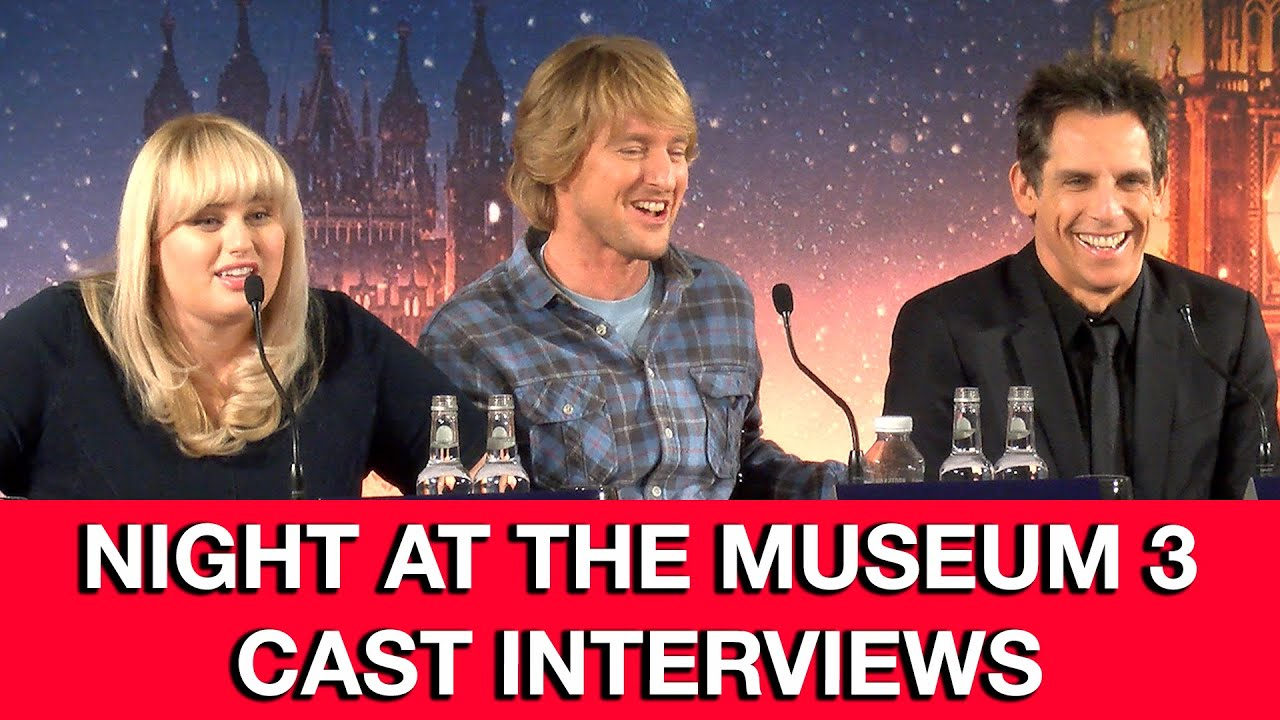 Night At The Museum 3: Secret of the Tomb Cast Interviews ...