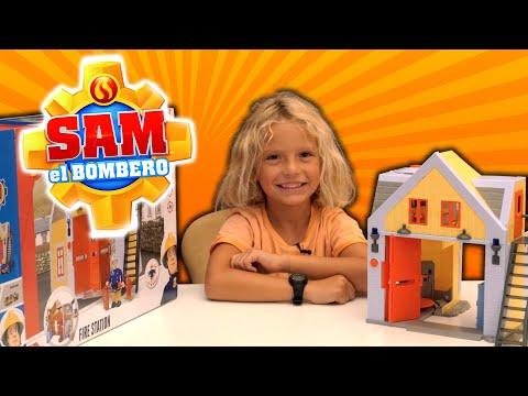 ESTACIÓN DE SAM EL BOMBERO - ¡Abrimos, montamos y jugamos con la Estación de Bomberos!