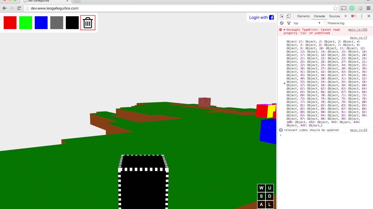 Building a 3d world using html css and javascript