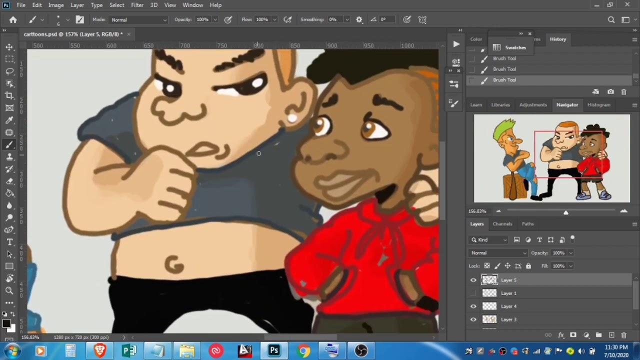 Photshop Coloring My character Design