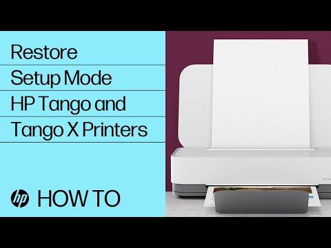 Restore Setup Mode | HP Tango And Tango X Printers | HP