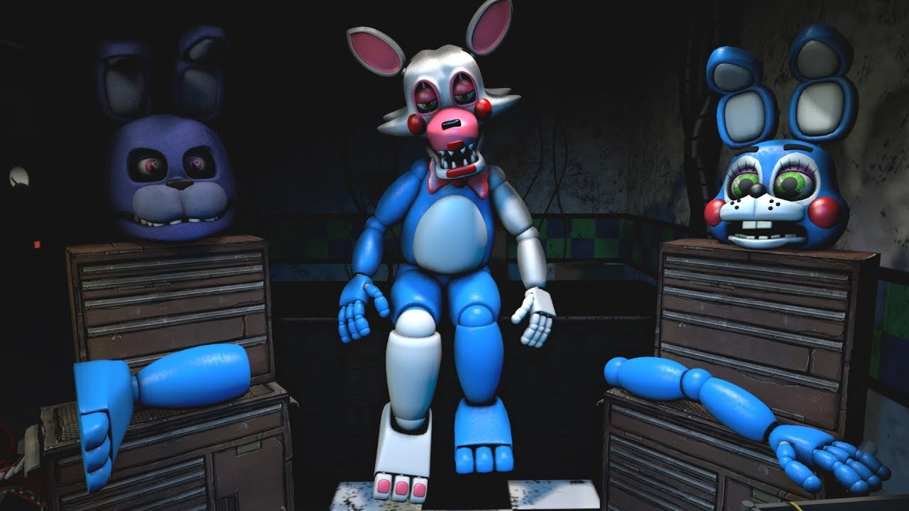 Five Nights At Freddy's Bonnie Animated [fnaf help wanted] repairing toy bonnie game-play animation - five nights  at freddy's vr
