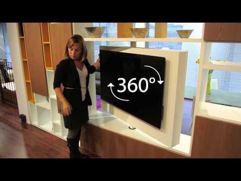 Porta Tv Girevole A Muro.Porta Tv Girevole 360 Gradi Youtube