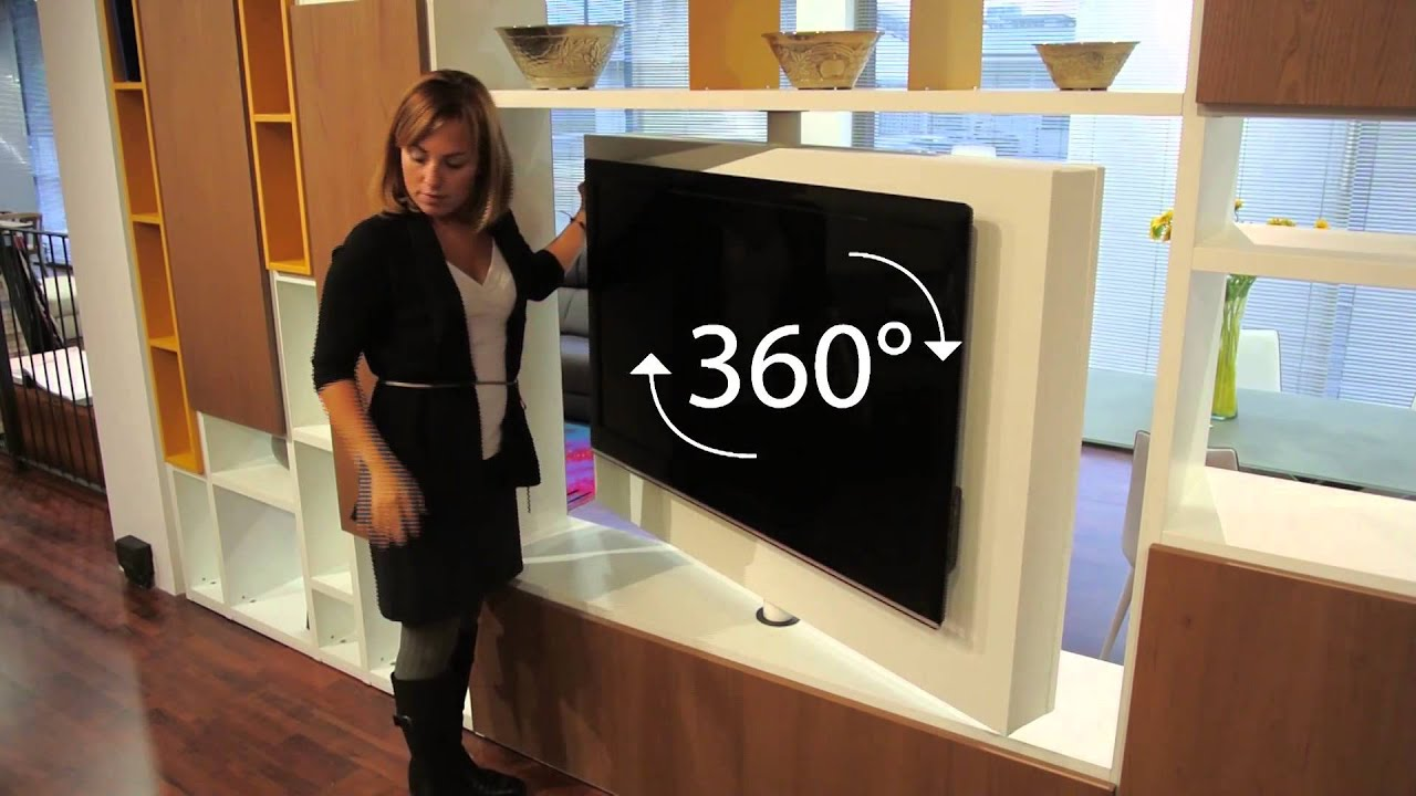 Porta tv girevole 360 gradi - YouTube