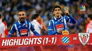 Resumen de RCD Espanyol vs Athletic Club (1-1)