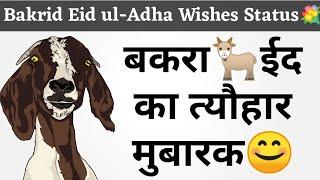 Bakrid Eid ul-Adha Wishes Status Shayari 💐