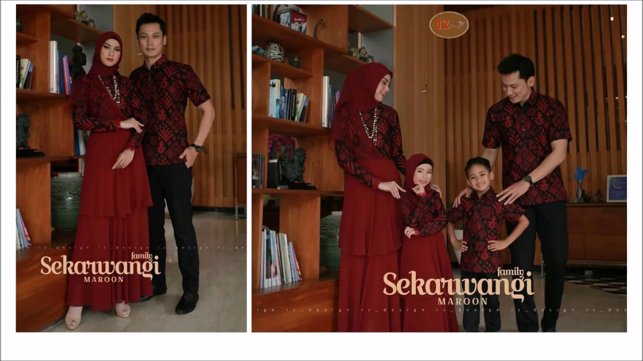 Model Baju Batik Keluarga Terbaru 2019 Batik Wanita Pria Dan Anak Kombinasi Polos