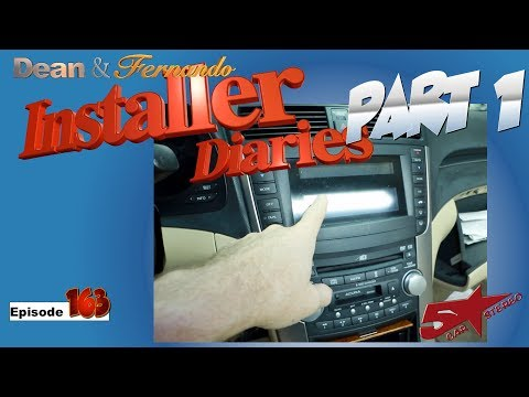 05 Acura TL In For A New Radio Amp And Speakers  Installer Diaries 163 Part 1