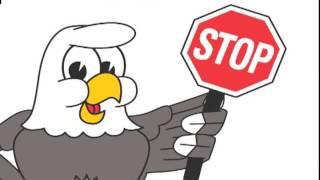 Eagle Mascot, Funny Cartoon Clip Art