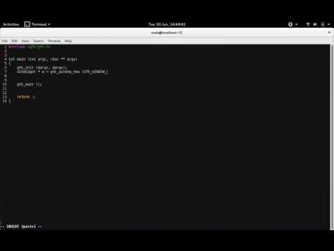 Gtk+ 3 Tutorial Hello world C Programming Linux