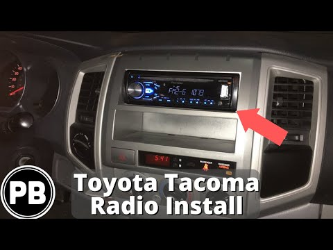 2005 - 2015 Toyota Tacoma Stereo Install w/ Steering Wheel Controls | Pioneer DEH-X4800BT
