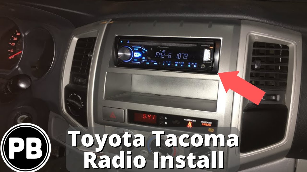 2005 2015 toyota tacoma stereo install w steering wheel controls pioneer deh x4800bt [ 1280 x 720 Pixel ]