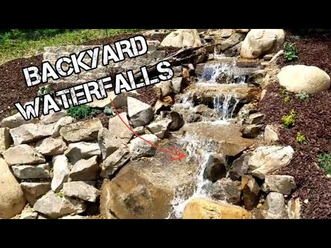 How To Build A DIY Backyard Pond and Waterfalls! Start to Finish!