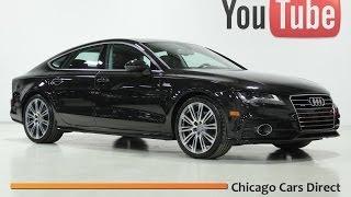 Chicago Cars Direct Presents a 2012 Audi A7 3.0T Prestige Quattro. Havannah Black/Nougat. X13435