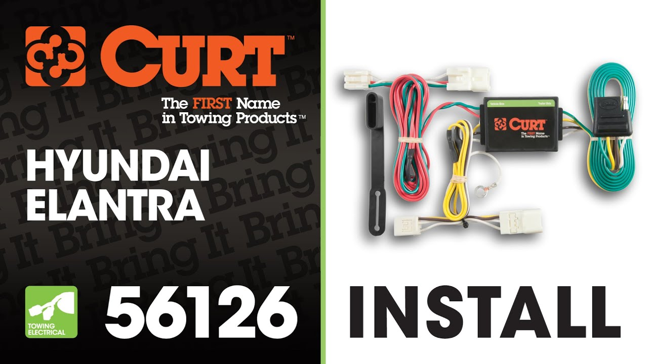 Trailer Wiring Install: CURT 56126 on 2013 Hyundai Elantra - YouTube