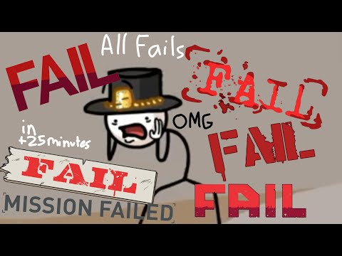 Henry Stickmin Collection | All Fails in +25 minutes + Green screen Fails | TheИick