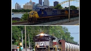 Railfanning Pittsburgh Area NS And CSX (HD)