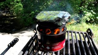 Stove in a Can Cooking Review - Bacon Wrapped Trout