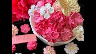 カーネーション花束デコレーションケーキの作り方