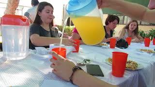 Visite  de Centro Accion par des élèves du Lycée St Paul de Lens