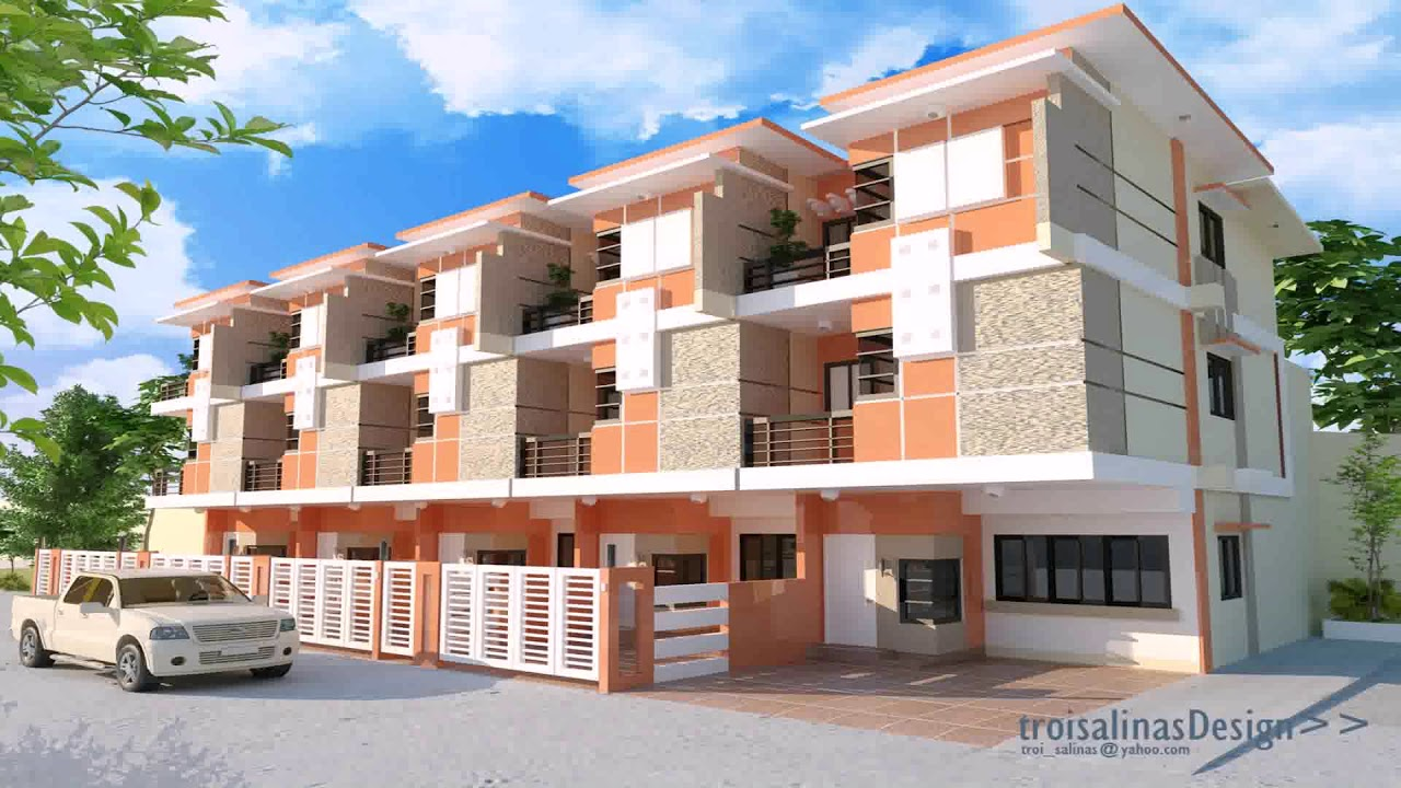 2 storey commercial building design in philippines youtube for 2 storey apartment floor plans philippines