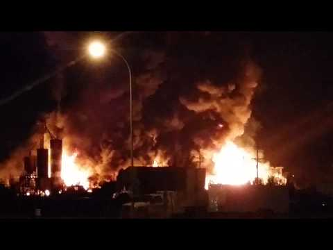 Williston, ND chemical plant in flames July 22, 14