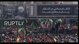 LIVE: Burial of Iran's Quds Force General Soleimani in his home town Kerman